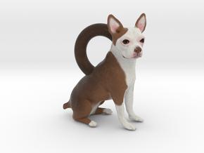 Custom Dog Earrings - Miss Missy in Full Color Sandstone