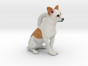 Custom Dog Earrings - Burrito in Full Color Sandstone