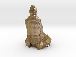 Bodhisattvasaur Planter in Polished Gold Steel
