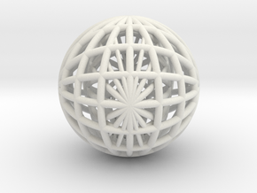 GLOBE GRID in White Strong & Flexible