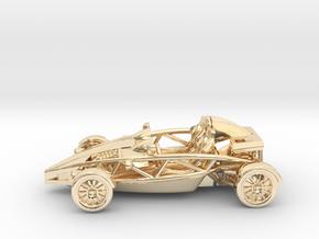 """Atom HO scale model w/o wings 1.6"""" LHD in 14K Yellow Gold"""