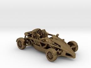 "Atom HO scale model w/o wings 1.6"" RHD in Natural Bronze"