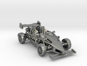 "Atom HO scale model w/wings 1.7"" RHD in Natural Silver"