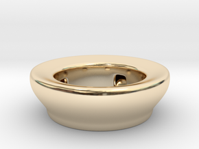 Fake Bowl  in 14K Yellow Gold