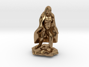 Halfling Rogue in Cape with two Daggers in Natural Brass