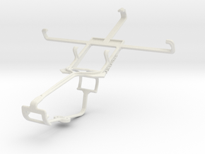 Controller mount for Xbox One & Huawei Ascend P1 in White Natural Versatile Plastic