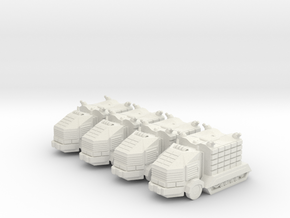 Troop Trucks 6mm in White Strong & Flexible