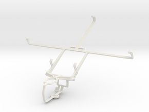 Controller mount for PS3 & Huawei MediaPad 7 Vogue in White Natural Versatile Plastic