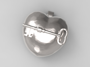 A Key to the heart, 001 in Polished Silver