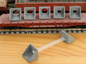 N Scale Culvert headwall ø600mm 4pc in White Strong & Flexible