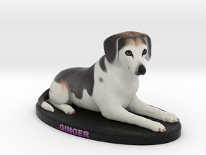 Custom Dog Figurine - Ginger in Full Color Sandstone