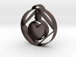 Love Alchemist Pendulum  in Polished Bronzed Silver Steel