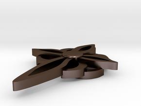 CE Cross III Upload To Shapeway in Polished Bronze Steel