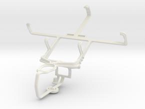 Controller mount for PS3 & Kyocera Torque E6710 in White Natural Versatile Plastic