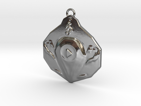 """""""Play"""" pendant 1-st edition, """"Player"""" jewelry coll in Polished Silver"""