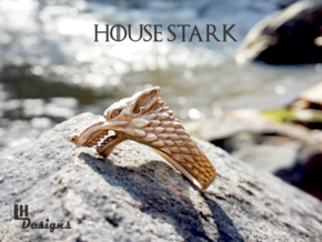 Size 12 Direwolf Ring in Raw Bronze