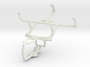 Controller mount for PS3 & LG Enact VS890 in White Natural Versatile Plastic