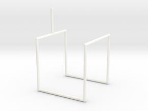 Wire Model for Soap Saddle in White Processed Versatile Plastic