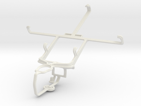 Controller mount for PS3 & LG Intuition VS950 in White Natural Versatile Plastic