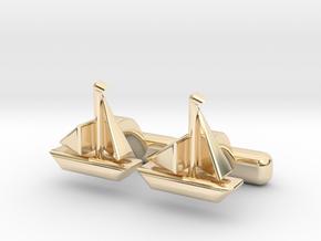 Yacht Cufflinks in 14K Yellow Gold