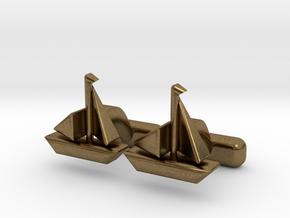 Yacht Cufflinks in Natural Bronze