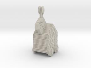 28mm-Scale Trojan Rabbit in Natural Sandstone