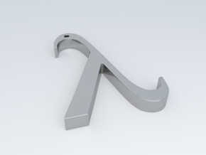 "The Greek Letter ""Lambda"" in Metallic Plastic"