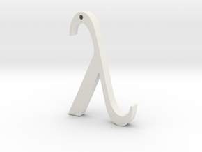 "The Greek Letter ""Lambda"" in White Natural Versatile Plastic"