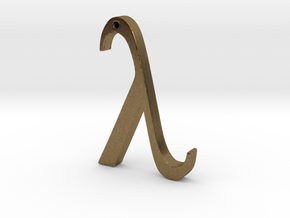 "The Greek Letter ""Lambda"" in Natural Bronze"