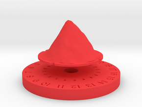 Life Counter - Mountain in Red Processed Versatile Plastic