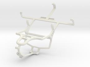 Controller mount for PS4 & LG Optimus Elite LS696 in White Natural Versatile Plastic