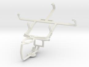 Controller mount for PS3 & LG Optimus F3 in White Natural Versatile Plastic