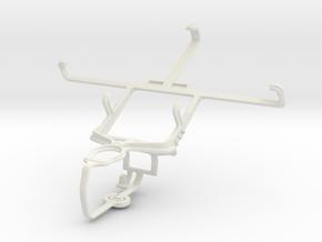 Controller mount for PS3 & LG Optimus GJ E975W in White Natural Versatile Plastic