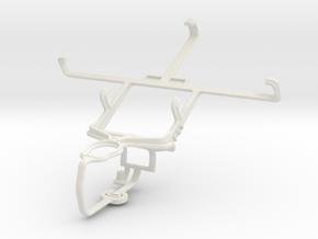 Controller mount for PS3 & LG Optimus L9 P760 in White Natural Versatile Plastic