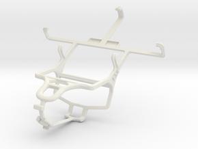 Controller mount for PS4 & LG Optimus L7 II P710 in White Natural Versatile Plastic