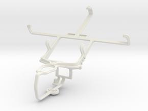 Controller mount for PS3 & LG Optimus L9 P769 in White Natural Versatile Plastic