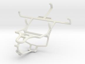 Controller mount for PS4 & Meizu MX 4-core in White Natural Versatile Plastic