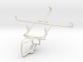 Controller mount for PS3 & Meizu MX3 in White Natural Versatile Plastic
