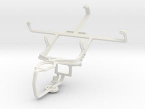 Controller mount for PS3 & Motorola ATRIX TV XT687 in White Natural Versatile Plastic