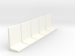 HO Retaining Wall 2500mm 5pc in White Processed Versatile Plastic