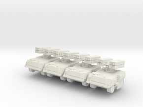 Missile Launcher Section 6mm in White Natural Versatile Plastic