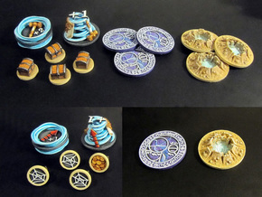 Claustro Tokens (12 pcs) in White Strong & Flexible