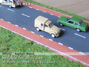 Asphalt-Walze (56 mm breit) in White Natural Versatile Plastic