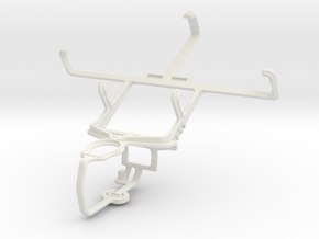 Controller mount for PS3 & Motorola DROID BIONIC X in White Natural Versatile Plastic