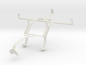 Controller mount for Xbox 360 & Motorola Electrify in White Natural Versatile Plastic