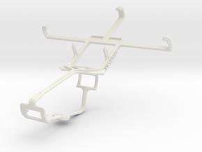 Controller mount for Xbox One & Motorola RAZR M XT in White Natural Versatile Plastic