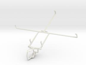 Controller mount for PS3 & Motorola XOOM MZ604 in White Natural Versatile Plastic