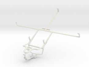 Controller mount for PS4 & Motorola XOOM MZ604 in White Natural Versatile Plastic