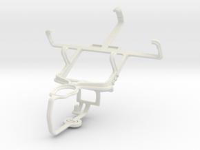 Controller mount for PS3 & Nokia Asha 500 in White Natural Versatile Plastic