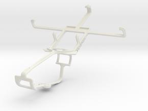 Controller mount for Xbox One & Panasonic Eluga DL in White Natural Versatile Plastic